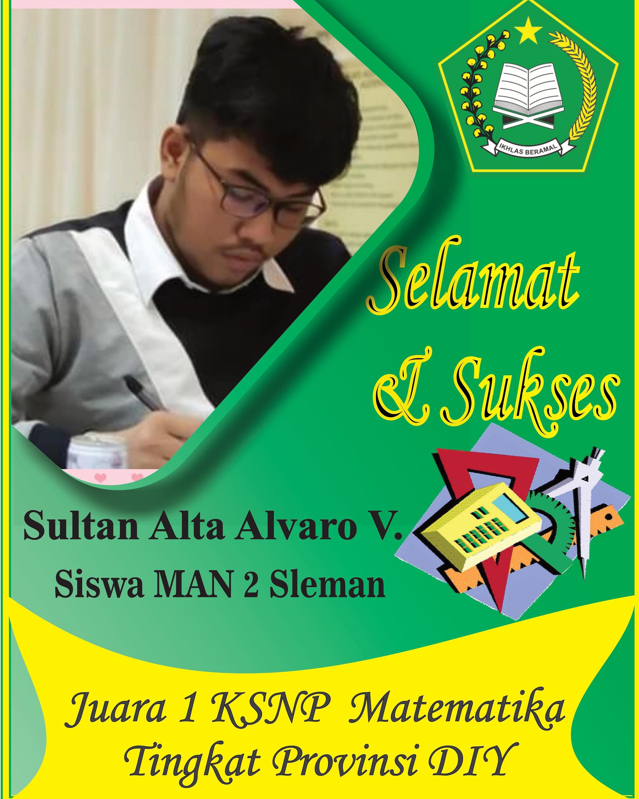 Juara 1 KSNP Matematika Tingkat Provinsi DIY