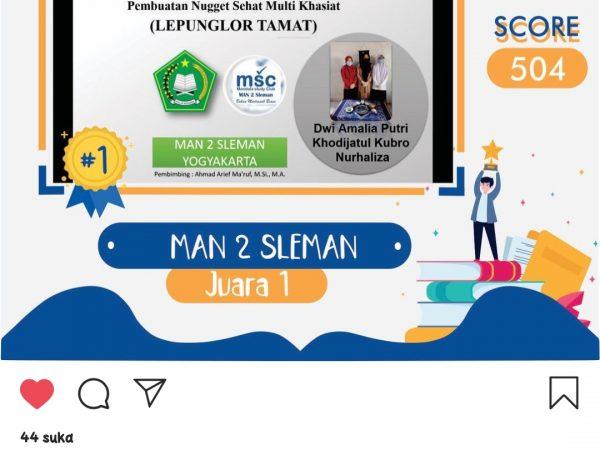 MAN 2 Sleman Raih Juara 1 dalam Kompetisi LITS 2020